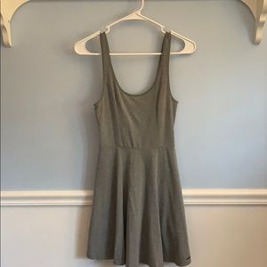 Basic grey T-shirt dress